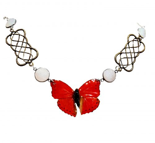 butterfly wing necklace, real butterfly wings jpeg.