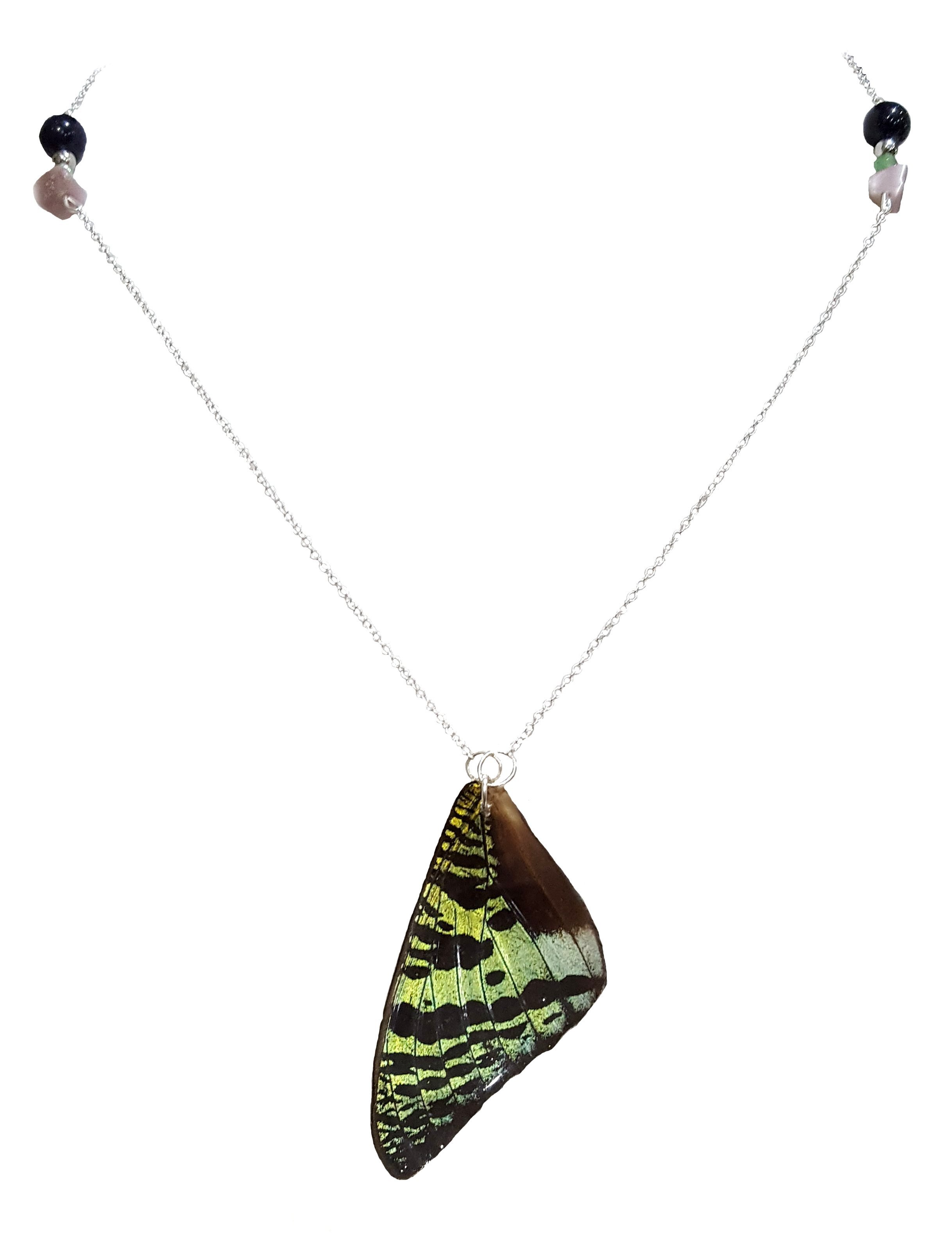 butterfly wing jewelry, sunset moth