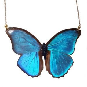 real buttefly wing jewelry, butterfly wing necklace