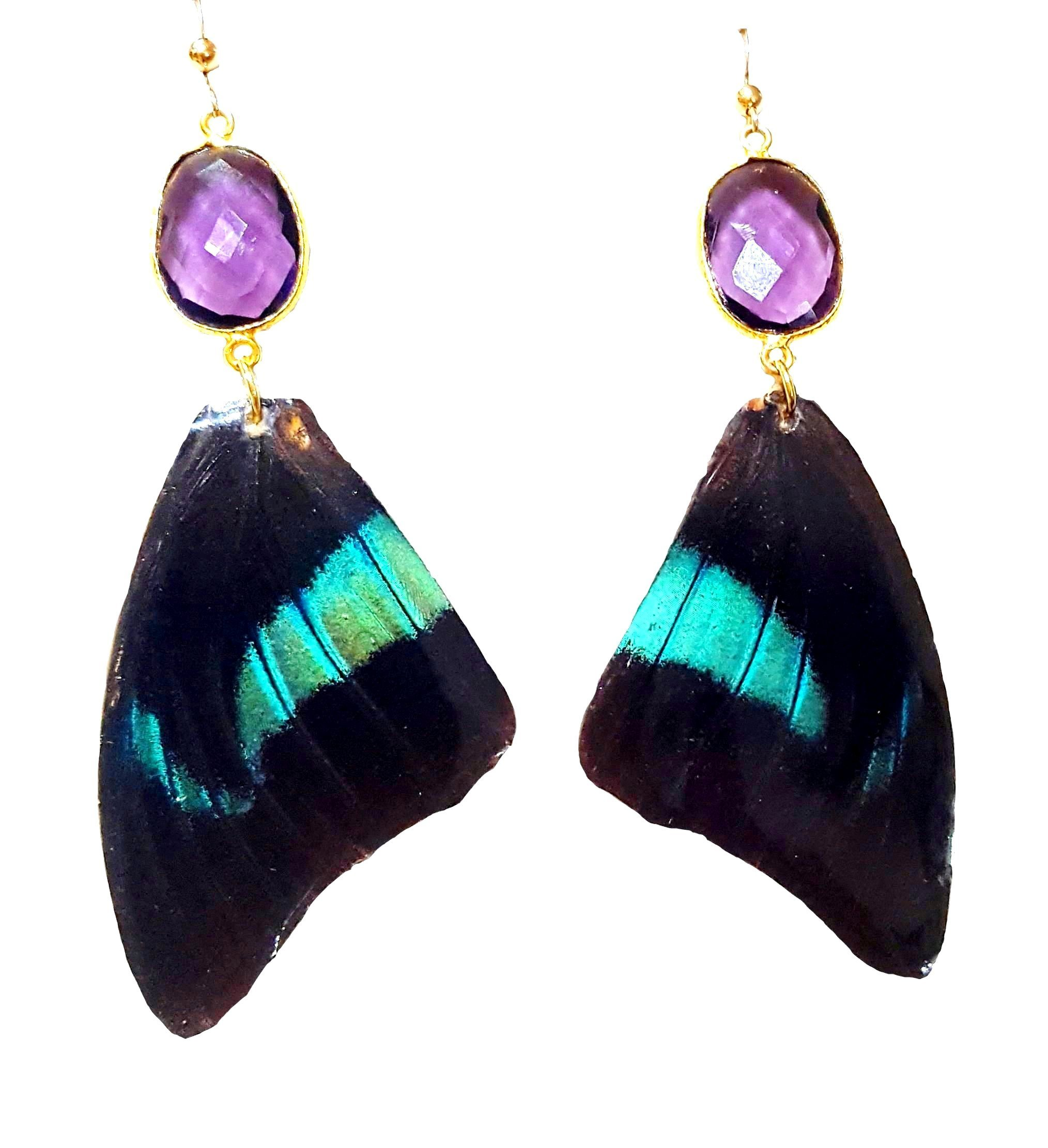 butterfly wing earrings, butterfly earrings, butterfly wing jewelry, butterfly jewelry