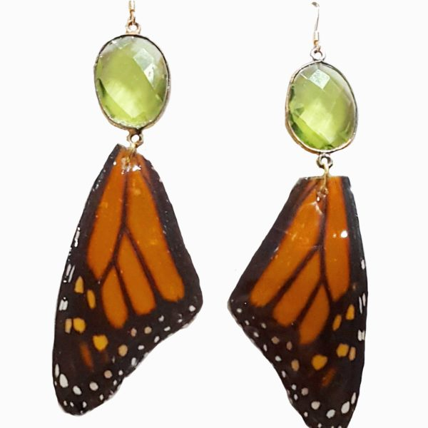 butterfly wing jewelry, monarch buttefly