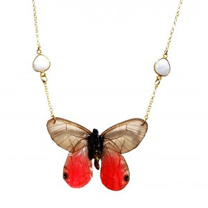 real butterfly wing necklace, real butterfly wing jewelry