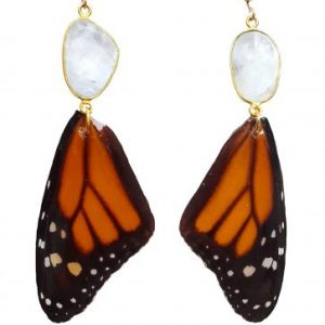 butterfly wing earrings, monarch butterfly earrings. jpeg