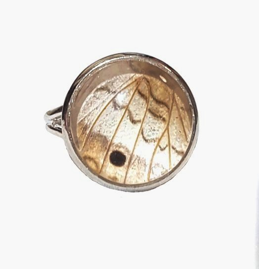 butterfly wing ring, butterfly wing jewelry, wing ring