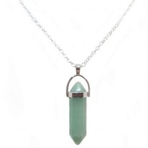 Green Jade Raw Crystal Necklace JPG.