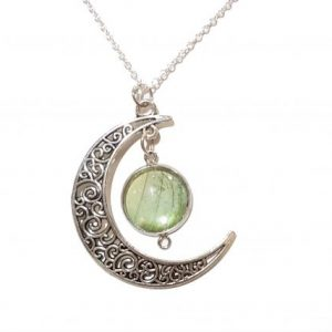 butterfly wing crescent moon necklace JPG.