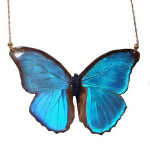 REAL BUTTERFLY WING NECKLACES