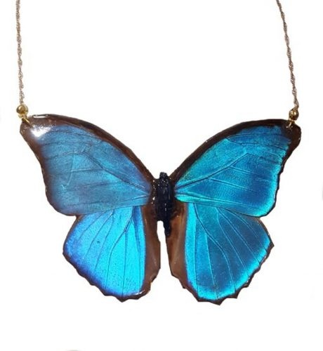 Real butterfly bar necklace butterfly wing jewelry monarch butterfly wing pendant butterfly wing necklace real butterfly jewelry