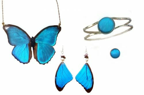 butterfly-jewellrey, blue-morpho, butterfly-wing-jewelry