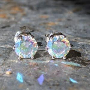 Mystic Topaz stud Earrings jpeg
