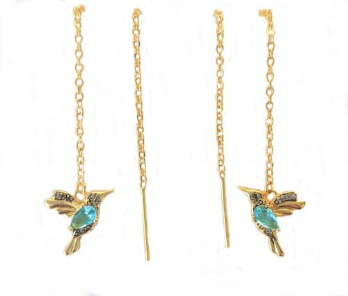 18k gold threader earrings humming bird jpeg.