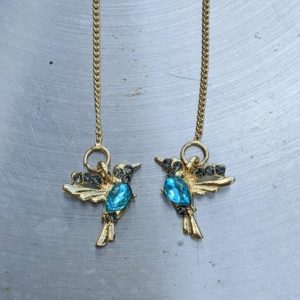 Hummingbird threader earrings 18k gold jpeg.