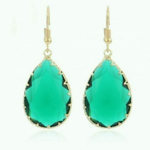 Natural Green Quartz Crystal Earrings Jpeg.
