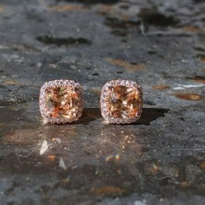 Golden Topaz Stud Earrings