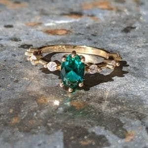 Glowing Teal Zircon Ring - Affordable Gemstone Jewellery