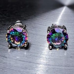 Rainbow Quartz Stud Earrings jpeg.