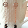black tourmaline dangle earrings, Crystal healing earrings jpeg.