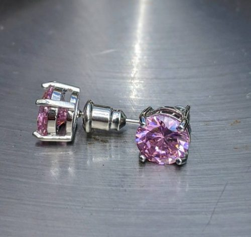 pink tourmaline stud earrings sterling silver jpeg.