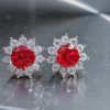 flower design ruby stud earrings jpeg.