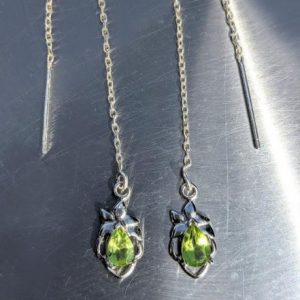 Peridot threader earrings u shape jpeg.