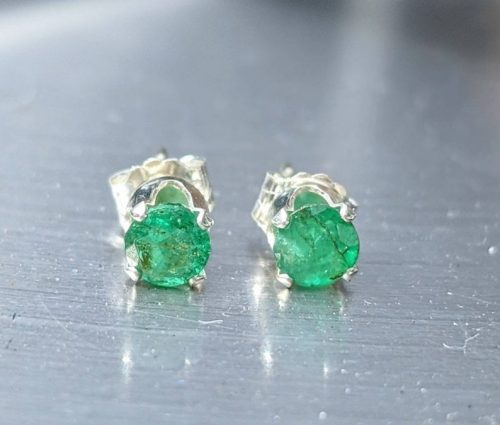 natural emerald earrings silver jpeg.