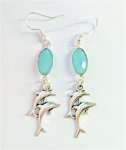 dolphin dangle earrings with sterling silver jpeg.