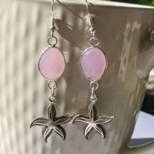 sterling silver drop starfish earrings jpeg.