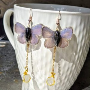 purple butterfly wing earrings with crystal jpeg.