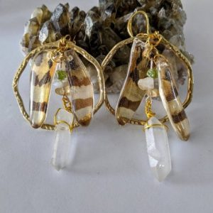 real dragonfly wing earring with quartz jpeg.