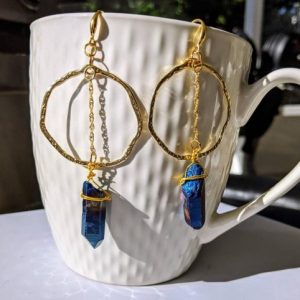 rainbow titanium healing crystal earrings jpeg.