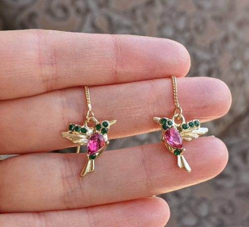 hummingbird long earrings gold filled jpeg.