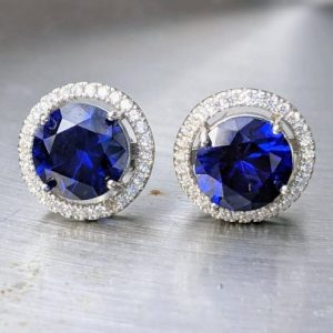 blue sapphire stud earrings with halo jpeg.