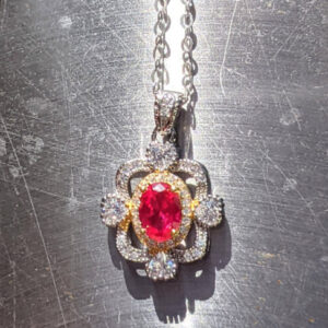 AAA Pigeon Blood ruby necklace with halo jpeg.