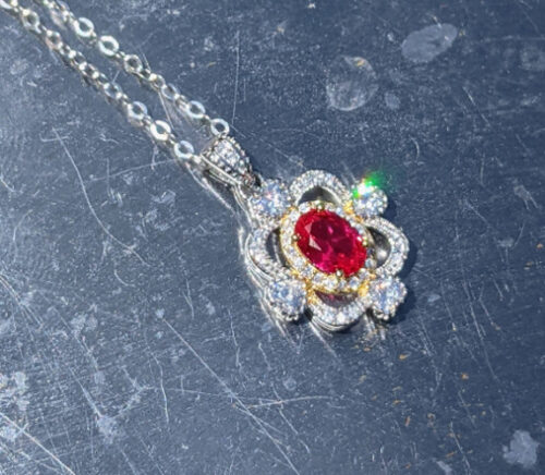 AAA Genuine Ruby Necklace silver jpeg.